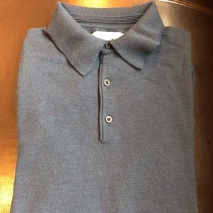 Nordstrom brand 100% wool collared sweater.